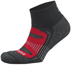 Balega - Black/Red Mohair Blister Resist Quarter