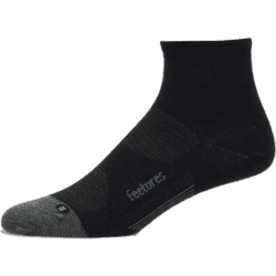 Feetures Merino10 Cushion Quarter - Sort