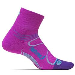 Feetures Elite Light Cushion Quarter - Orchid/Blue
