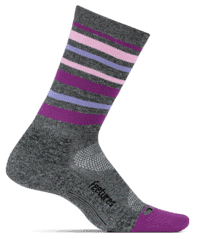Feetures Elite Light Cushion Mini Crew - Stripes Violet