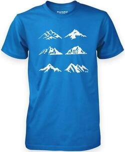 Which Mountain t-shirt - Blå