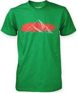 Mountain bomulds t-shirt - Grøn