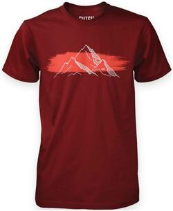 Mountain bomulds t-shirt - Burgundy