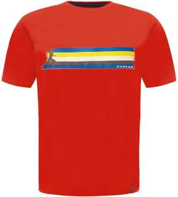 Retro Multiband fiery red t-shirt - Rød