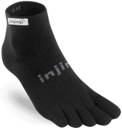 Injinji - Performance Run - Lightweight Mini Crew - Black
