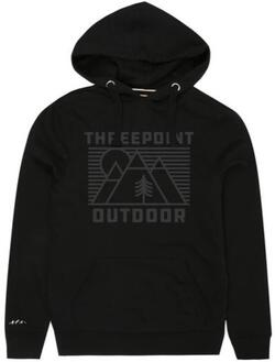Threepoint - Outdoor Lines Pullover Hood - Black