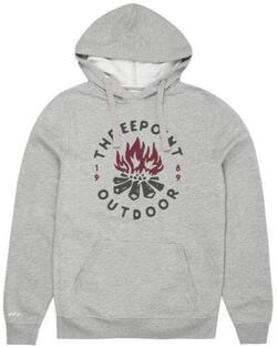 Threepoint - Camp Fire Pullover Hood - Grey Heather