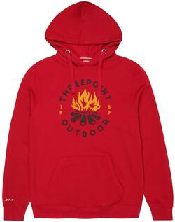 Threepoint - Camp Fire Pullover Hood - Cranberry