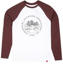 Threepoint - Mountain Range Baseball LS-shirt - White/ Plum Marl