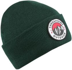 Threepoint - Badge Beanie - Bottle Green