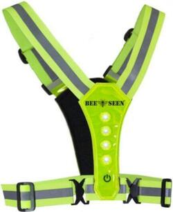 LED refleks harness vest - Lime
