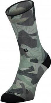 Scott - Trail Camo Map Crew Socks - Grey/Black