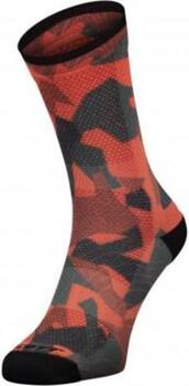 Scott - Trail Camo Map Crew Socks - Red/Black