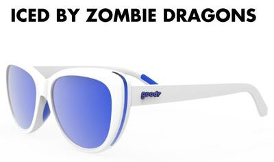 goodr Runway Sunglasses - Iced By Zombie Dragons