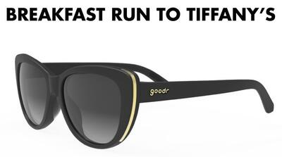 goodr Runway Sunglasses - Breakfast run to Tiffany´s