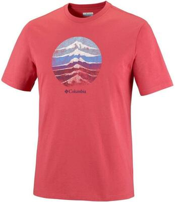 Mountain Sunset t-shirt - Rød