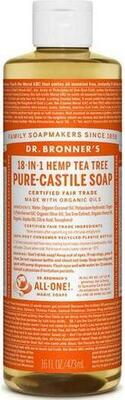 Dr. Bronner´s  Liquid Soap - Tea Tree - 475 ml.