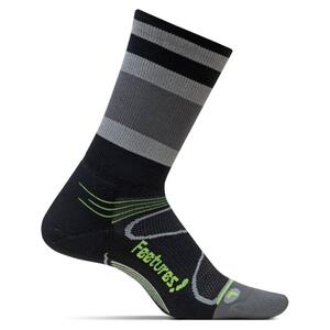 Feetures Elite Light Cushion Mini Crew - Stripes Black