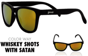 goodr Sunglasses - Whiskey Shots with Satan