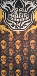 Yellow head Skull Neck Gaiter