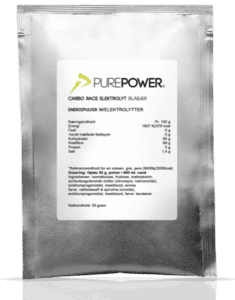 PurePower Carbo Race Elektrolyt Blåbær - 50 g